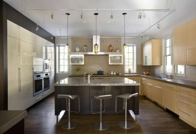Houzz kitchens modern cabinetry with premier i lika the left built in cabinet wall and · kitchen lightingkitchen islandslighting ideascontemporary