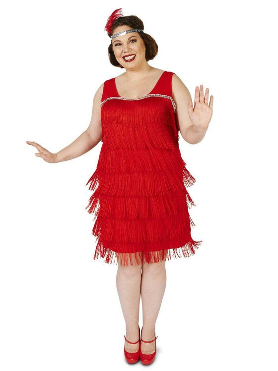 3820692b3f2db Plus Size 20 s Pink Flapper Costume For Adults