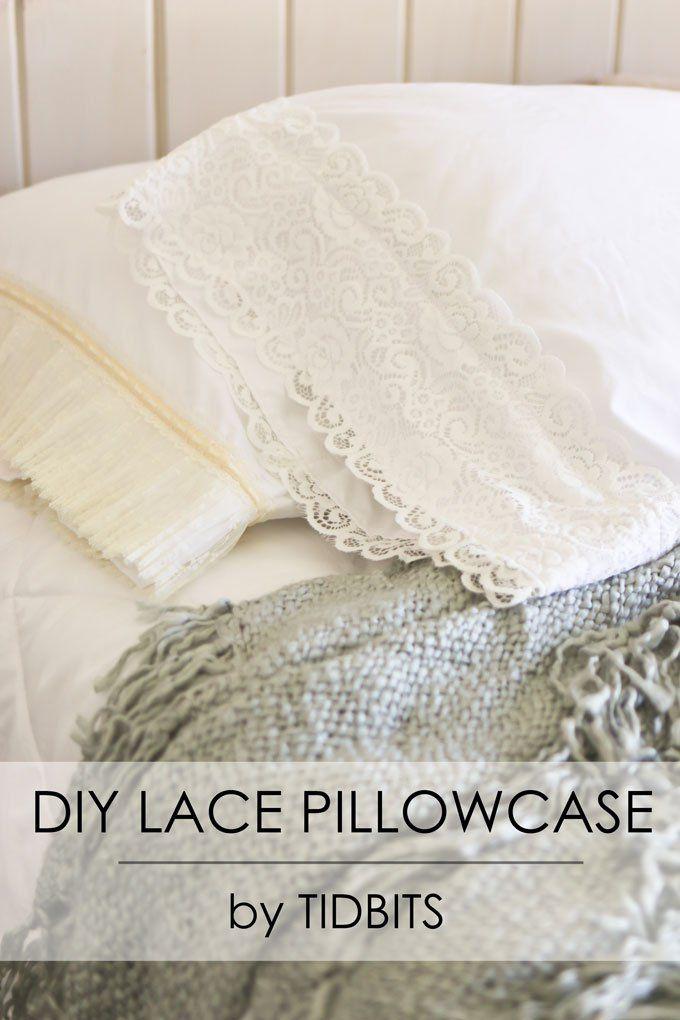 DIY Lace Pillowcase | My Style | Pinterest | Fundas de almohadas ...