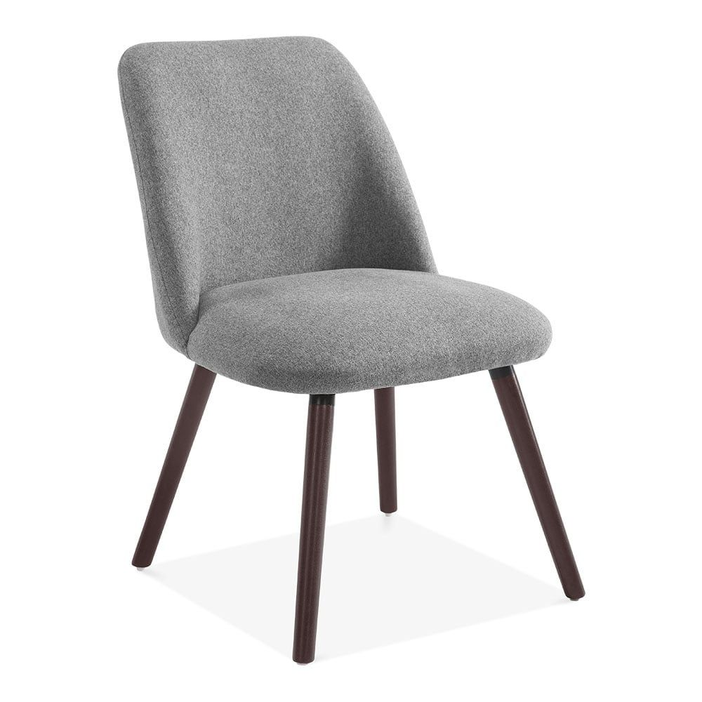 Hanover Sleek Scandinavian Dining Chair Fabric Upholstered Grey In 2020 Dining Chairs Grey Upholstered Dining Chairs Scandinavian Dining Chairs