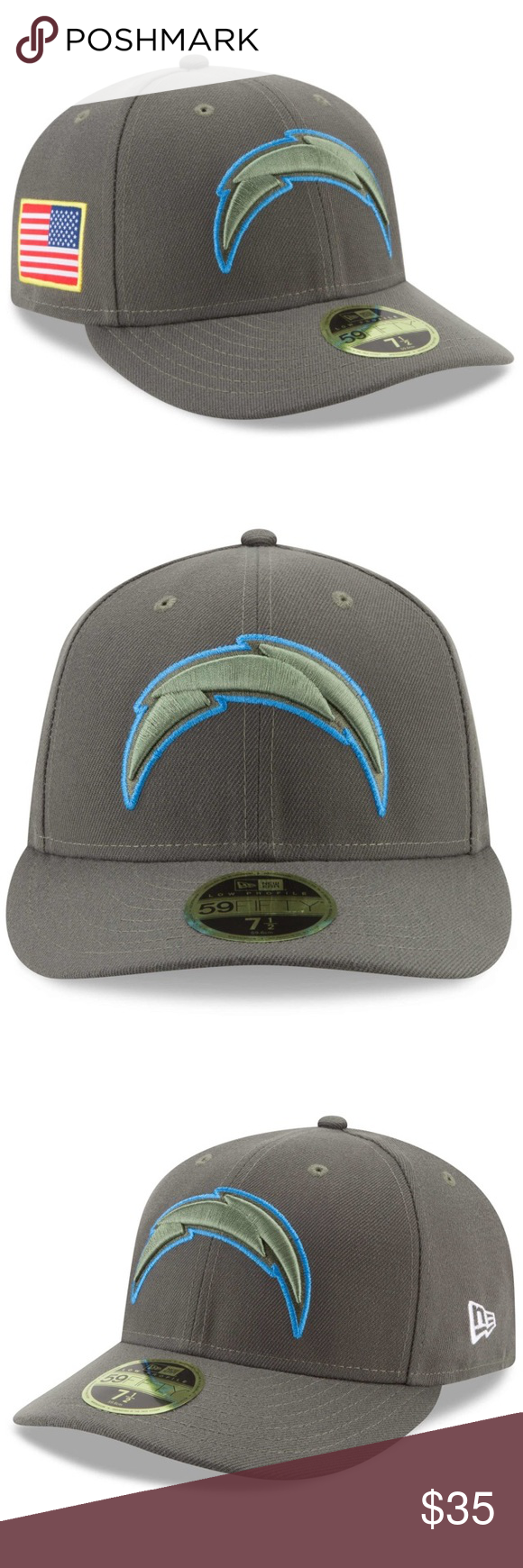 detailed look f10a3 49425 LA Chargers New Era Salute To Service Fitted Hat Tip your cap to those who  serve