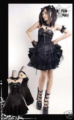 Fashion Punk Rock Lolita Goth NANA Kera Princess Dress Japan fashion Free ship