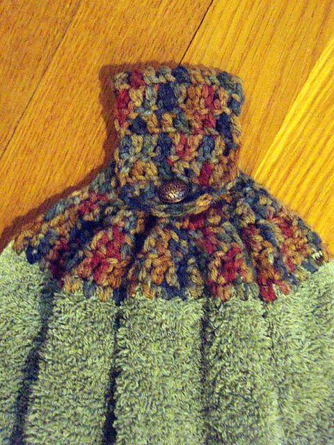 Crochet Towel Topper: free pattern | Crochet patterns | Pinterest ...