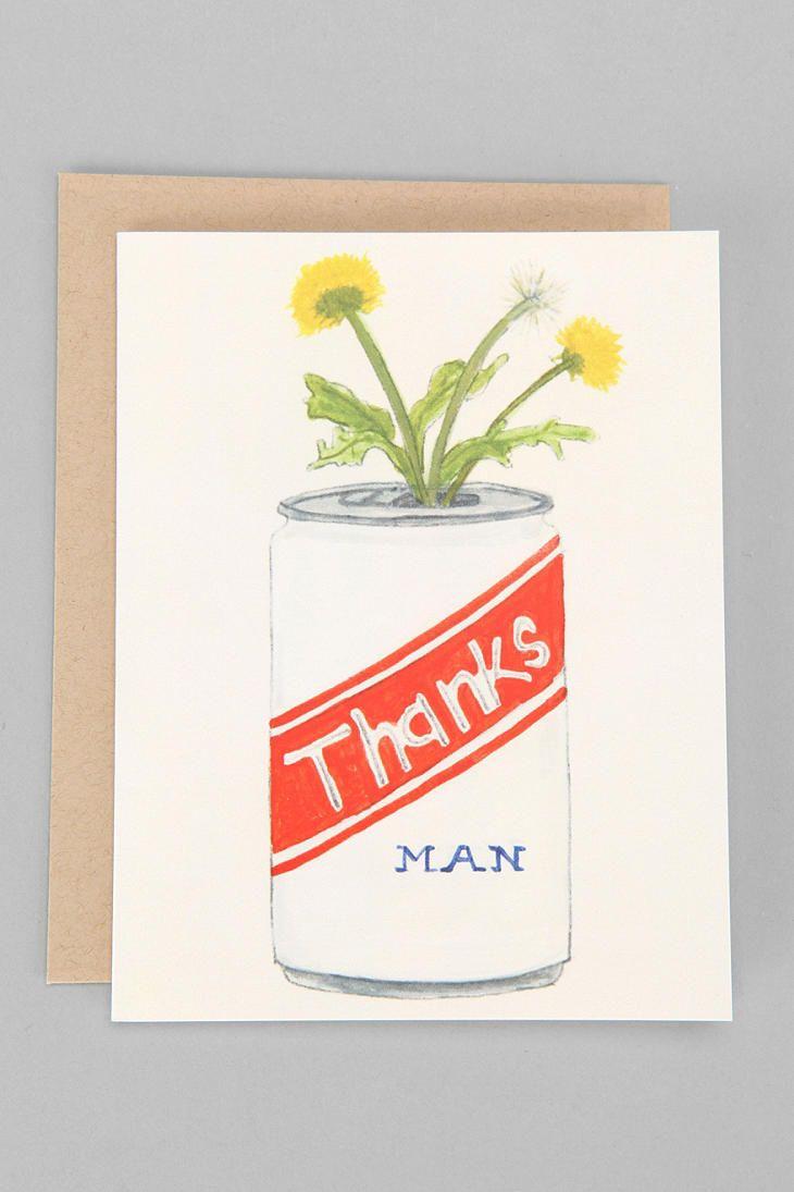 dear hancock thanks man thank you card  funny greeting