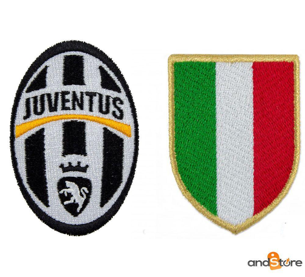 Toppa JUVENTUS + SCUDETTO patch italia juve serie a calcio stemma ...