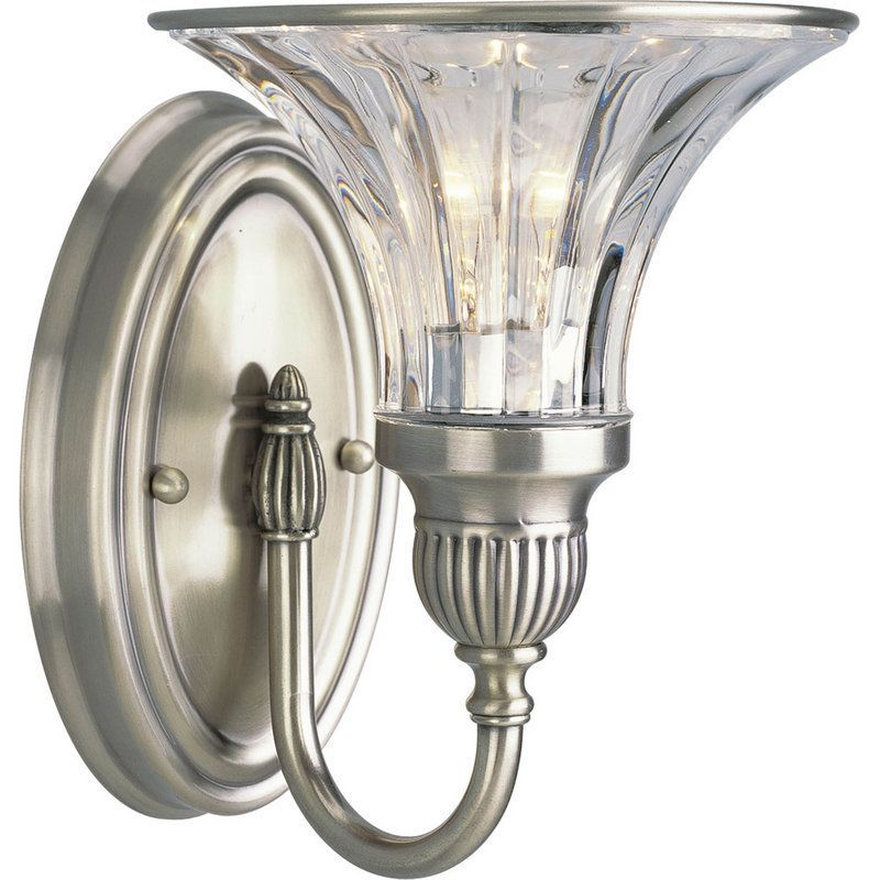 "View the Progress Lighting P2724 Roxbury 1 Light 9"" Tall Bathroom Wall Sconce with Fluted Glass at Build.com."