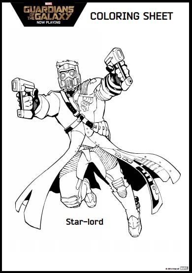 star lord coloring pages Guardians of the Galaxy Coloring Pages and activity kit | Disney  star lord coloring pages