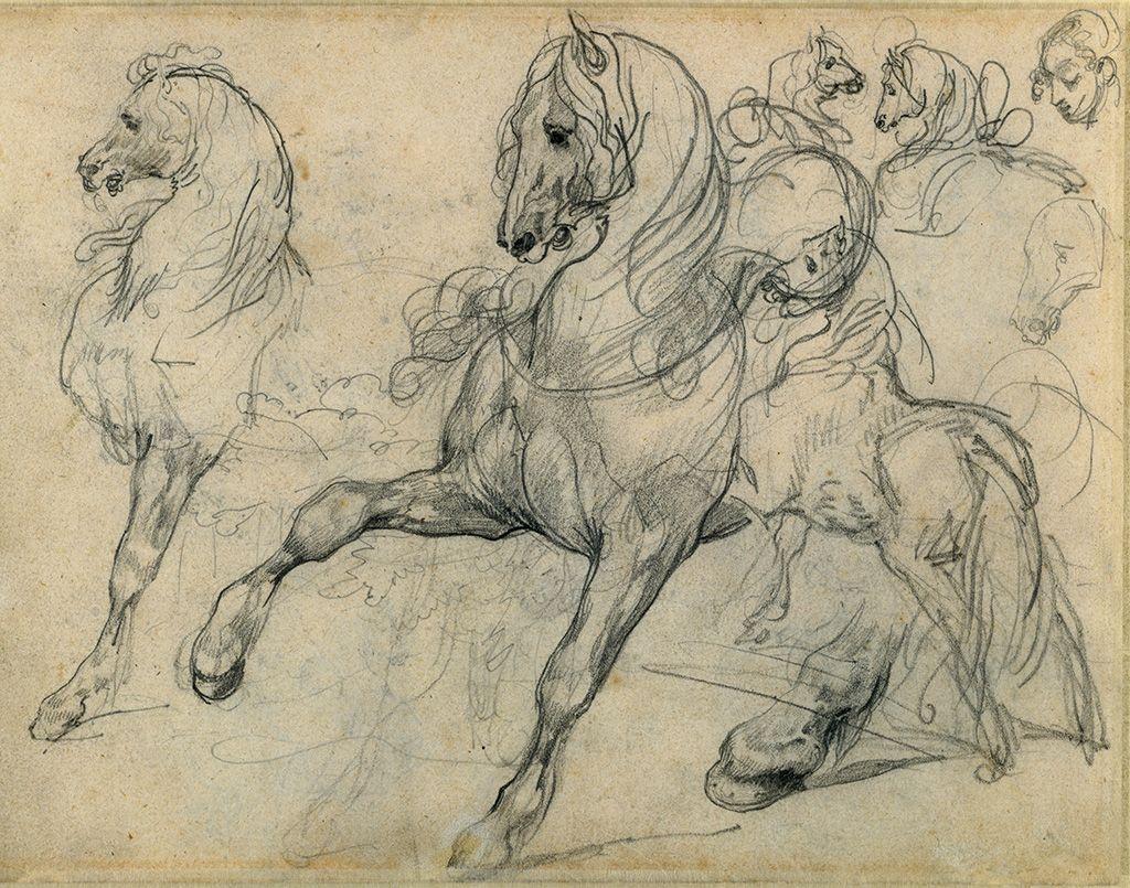 Horses, 1813-14, Théodore Géricault; graphite. The J. Paul Getty Museum