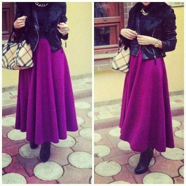 robe hijab violet avec bottines robes femme pinterest. Black Bedroom Furniture Sets. Home Design Ideas
