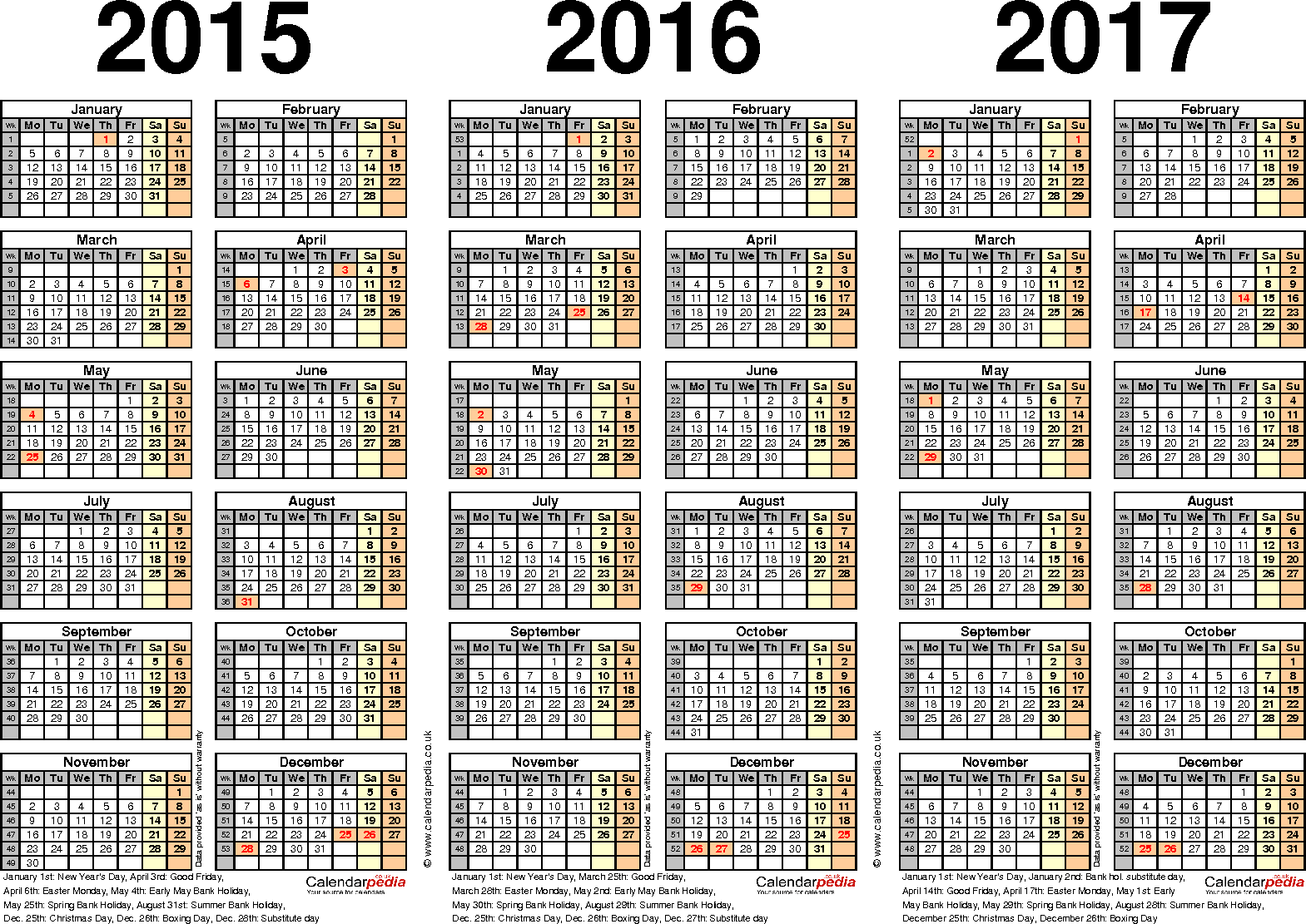 three year calendars for 2015 2016 2017 uk for pdf