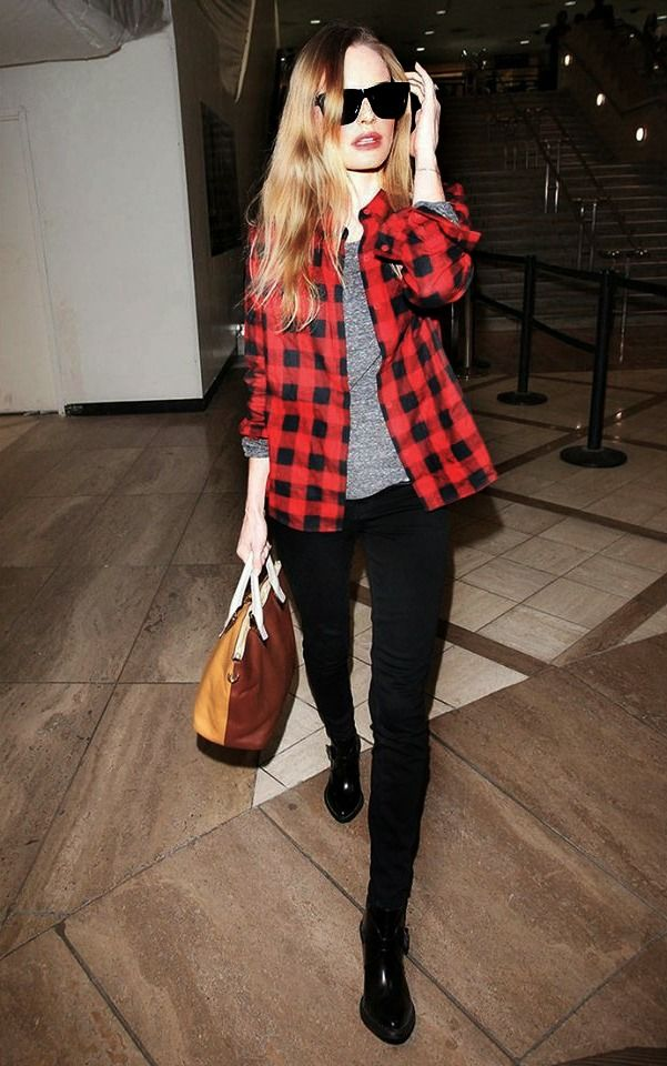 Kate Bosworth in buffalo check