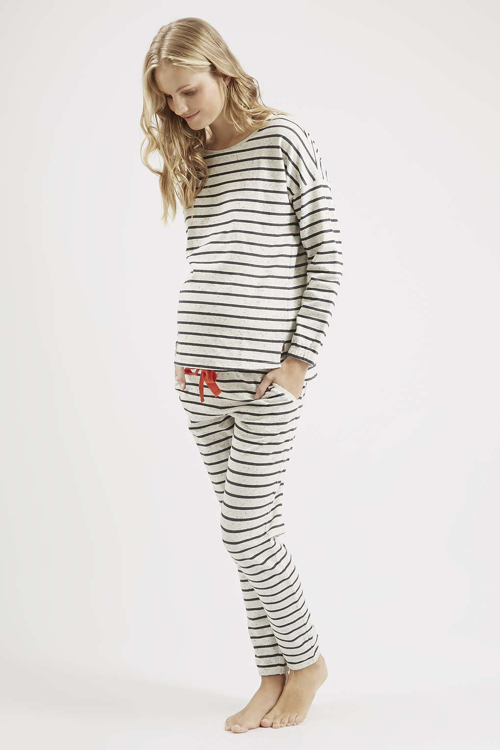 Maternity speckle stripe sweatshirt and joggers topshop