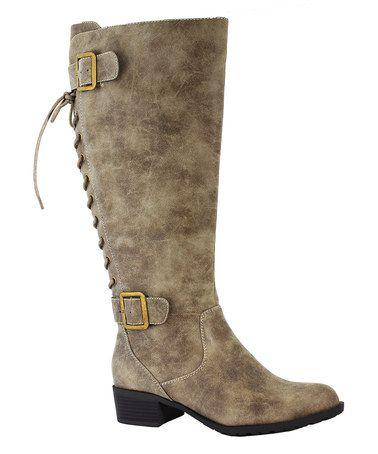 Vintage Stone Stockton Wide-Calf Boot #zulilyfinds