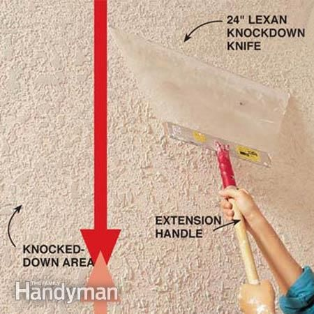 How To Texture A Ceiling Apply Knockdown The Ceiling