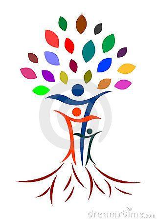 Abstract Family Tree Family Tree Logo Tree Logos Family Tree Painting