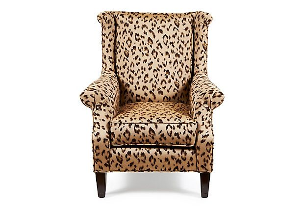 Love This Leopard Wing Back Chair Not Too Much With Great Lines