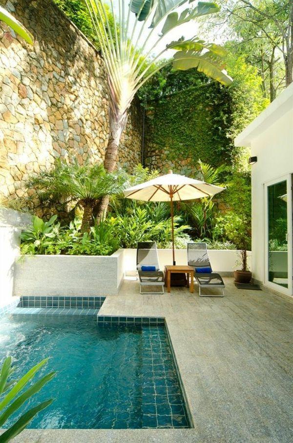 Votre piscine semi-enterrée - 30 idées créatives | Casa Intaliana ...