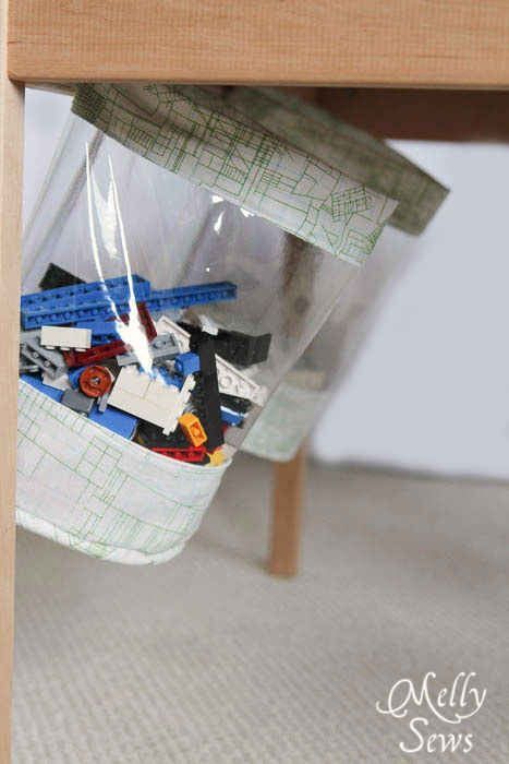 Make your own hidden storage bags.