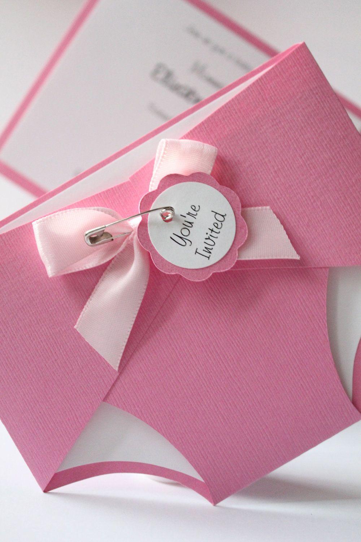 Baby Diaper Shower Invitation - Bubblegum Pink - Baby - Girl or Boy ...