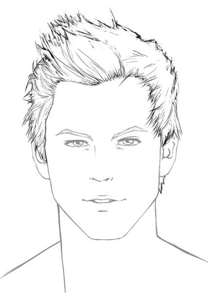 How to draw male hair @Kitty Edisto Edisto Edisto this