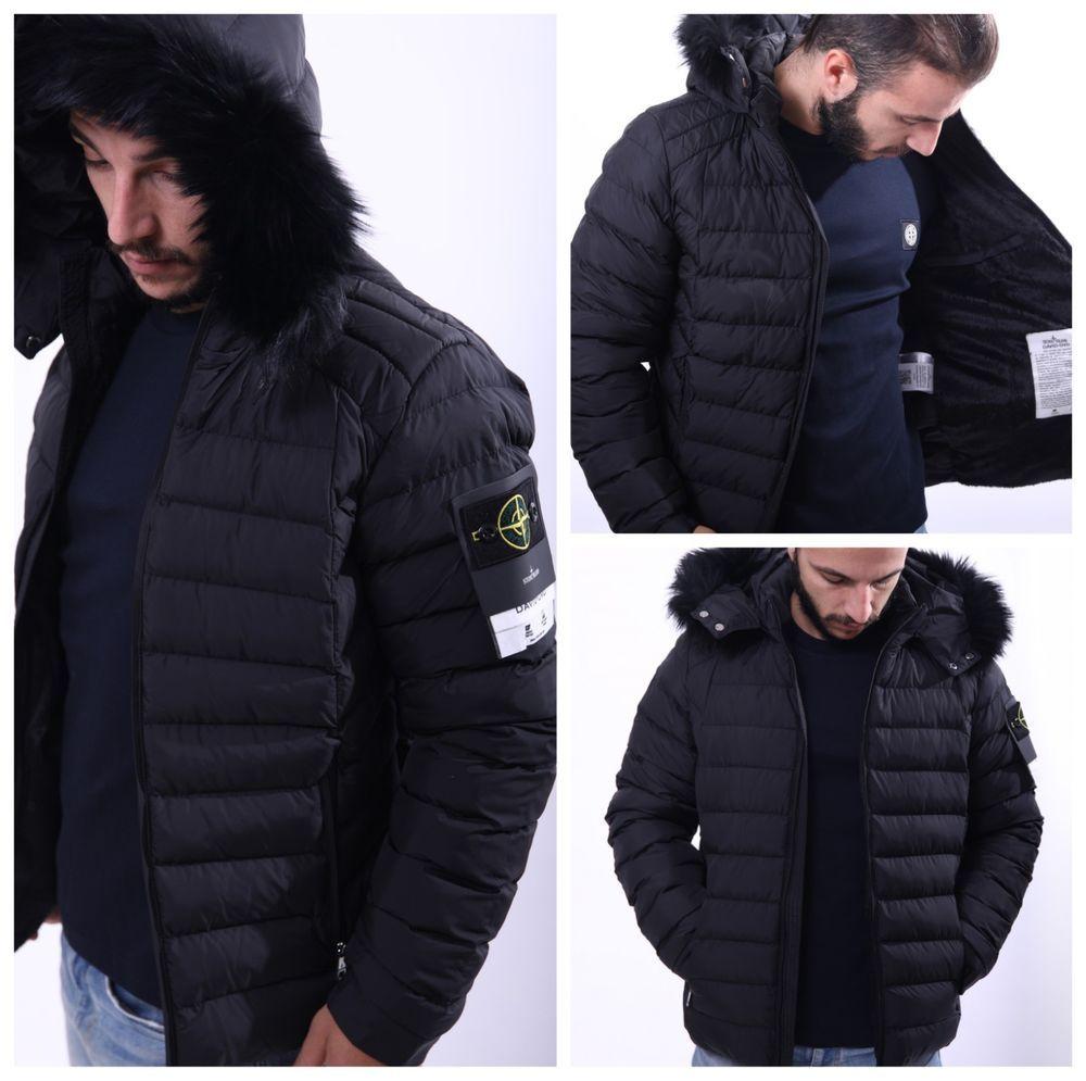 Stone Island Jacket David Ovd Size L Hooded Fur Genuine New Mens Fashion Clothing Shoes Accessories Men Stone Island Jacket Men S Coat Hooded Parka Jacket [ 995 x 1000 Pixel ]