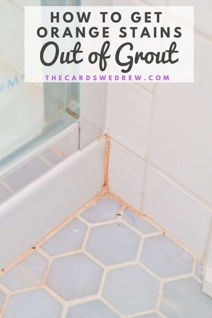 How To Get Orange Stains Out Of Bathroom Tile Grout Clean Shower