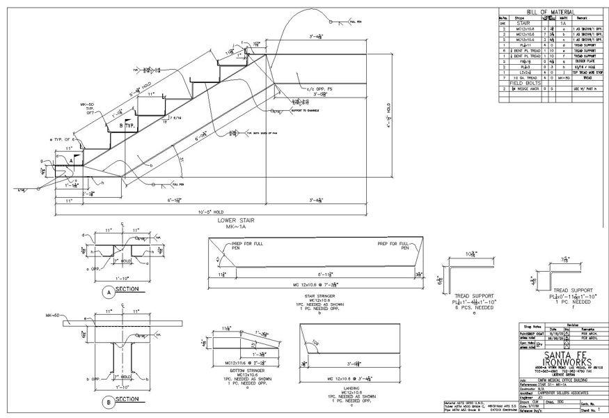 Steel Stair Details Drawings #stairs Pinned by www.modlar ...