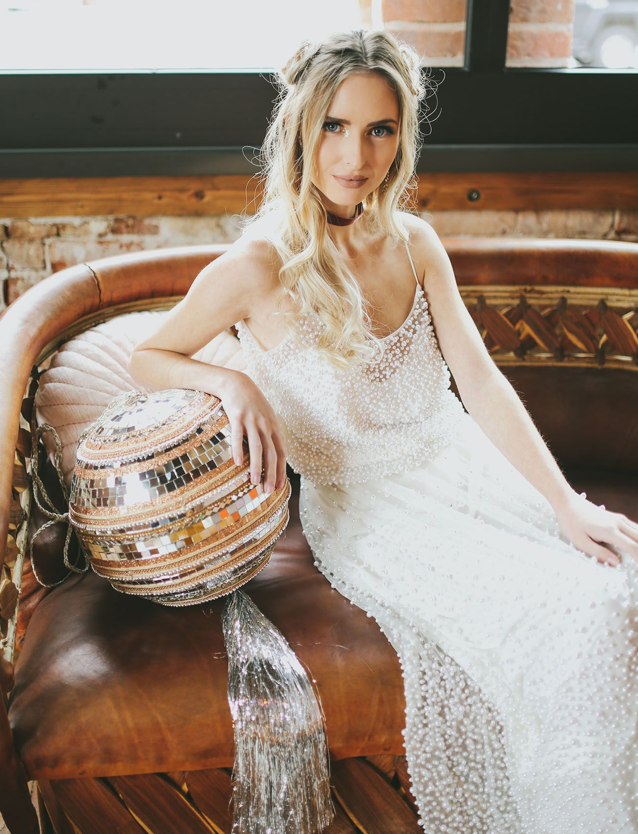 e7937aa1db2 beaded wedding dress new year s eve style with a free people disco ball  pillow