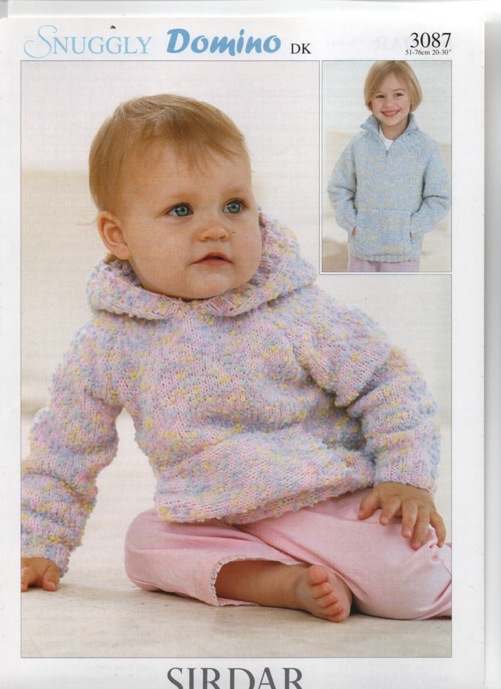 Sirdar Baby Dk Hooded Sweaterzip Up Collared Sweater Knitting
