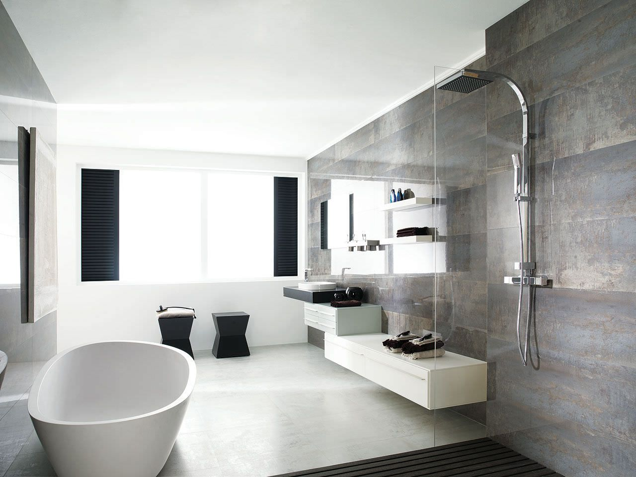 metallic tiles bathroom - google search | metallic tiled looks