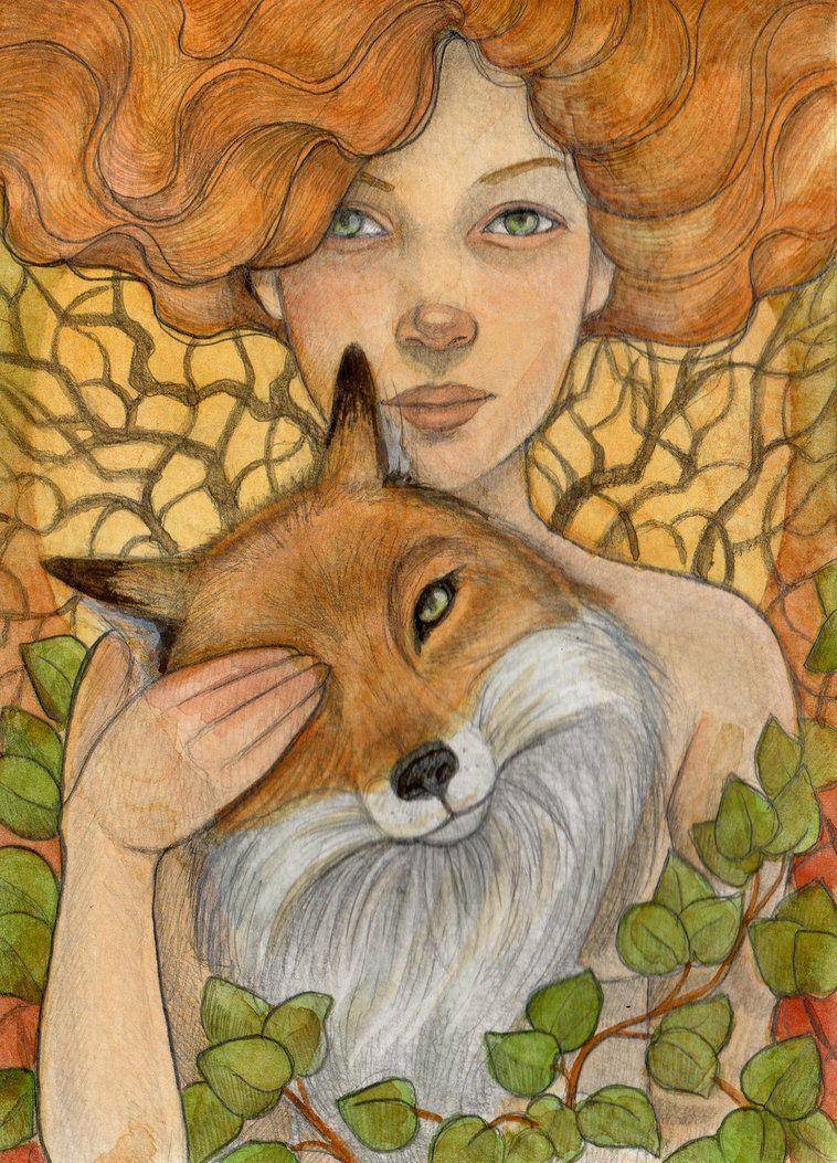 Lisa Ferguson Whimsicalmoon On Deviantart Fox Maiden Fox Art Animal Art Art