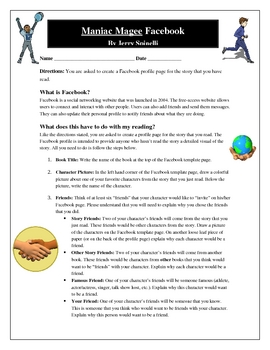 maniac magee facebook characters activity | character activities, Powerpoint templates