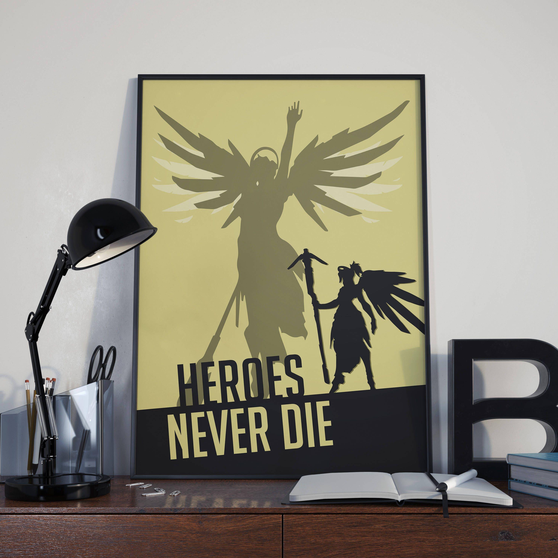 Overwatch: Mercy Poster // Heroes Never Die - Ressurect // Overwatch ...