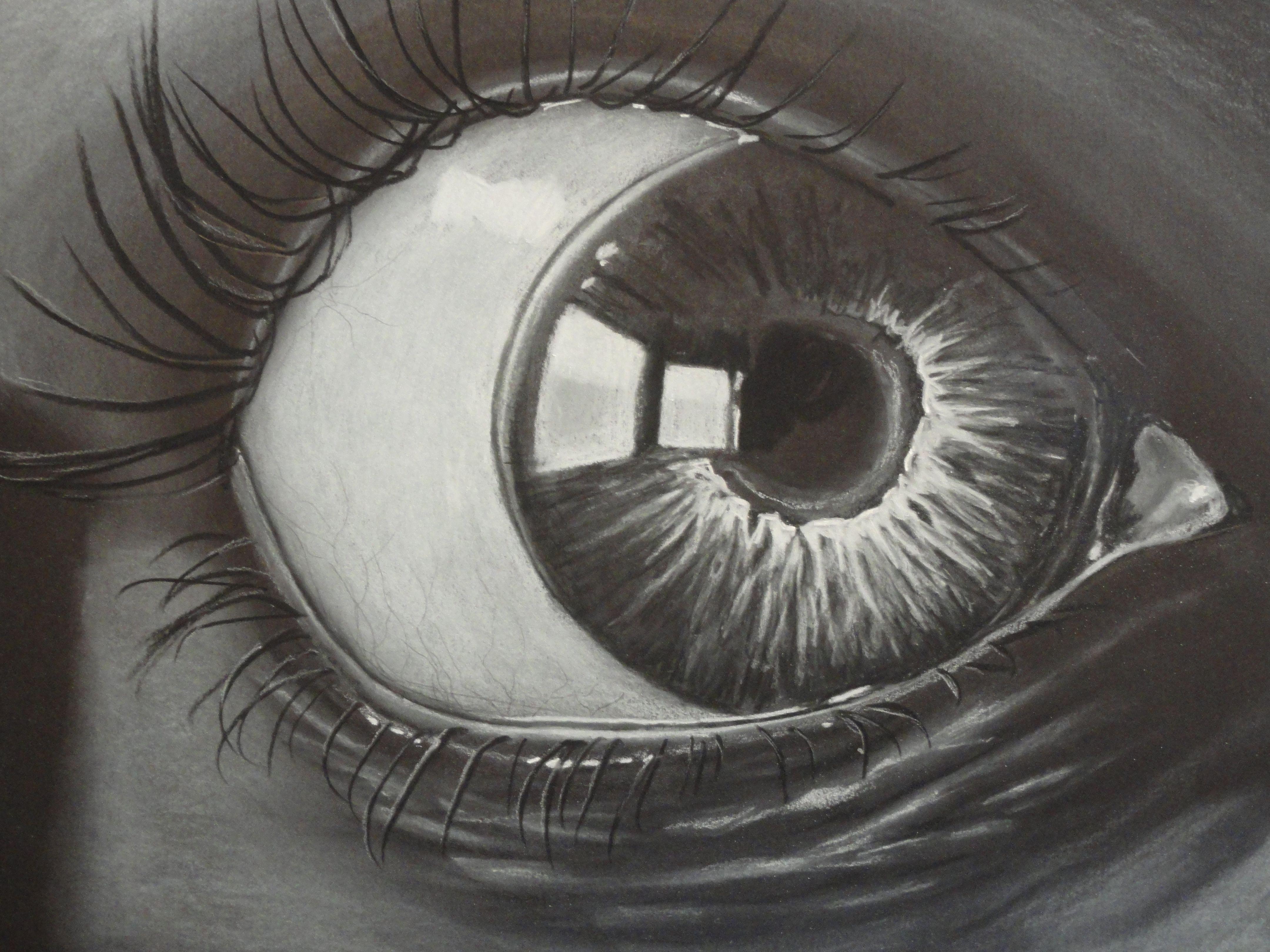 Charcoal Eye | Drawing people, Cartoon drawings of people ...