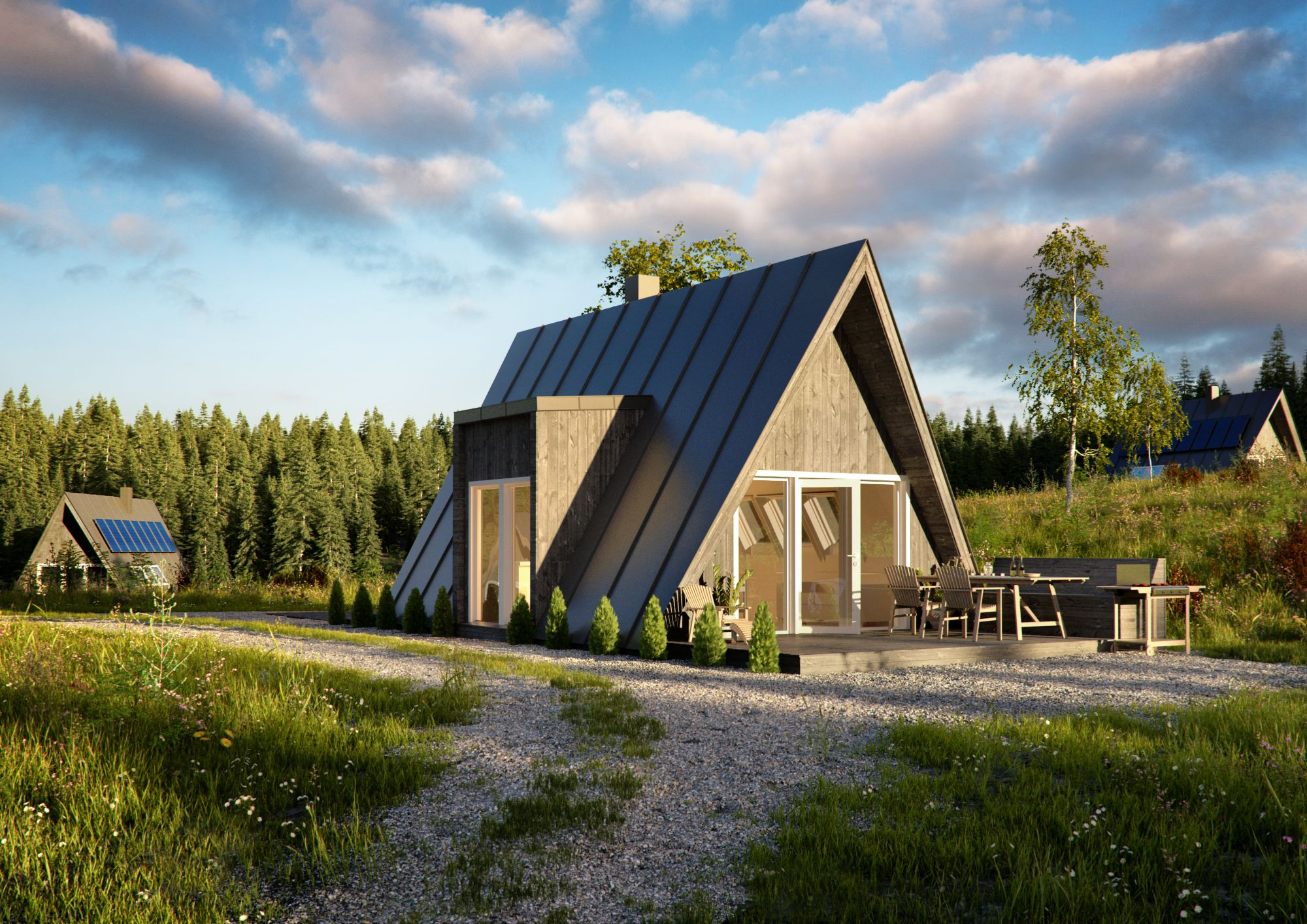 A frame cabin duo75 from aframe for Modular a frame homes