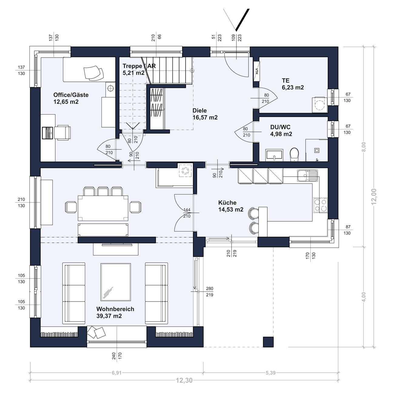 ZENKER Haus Konzept 174. Viel Fläche Zum Wohnen, Leben Und Wohlfühlen.  Modernes Design