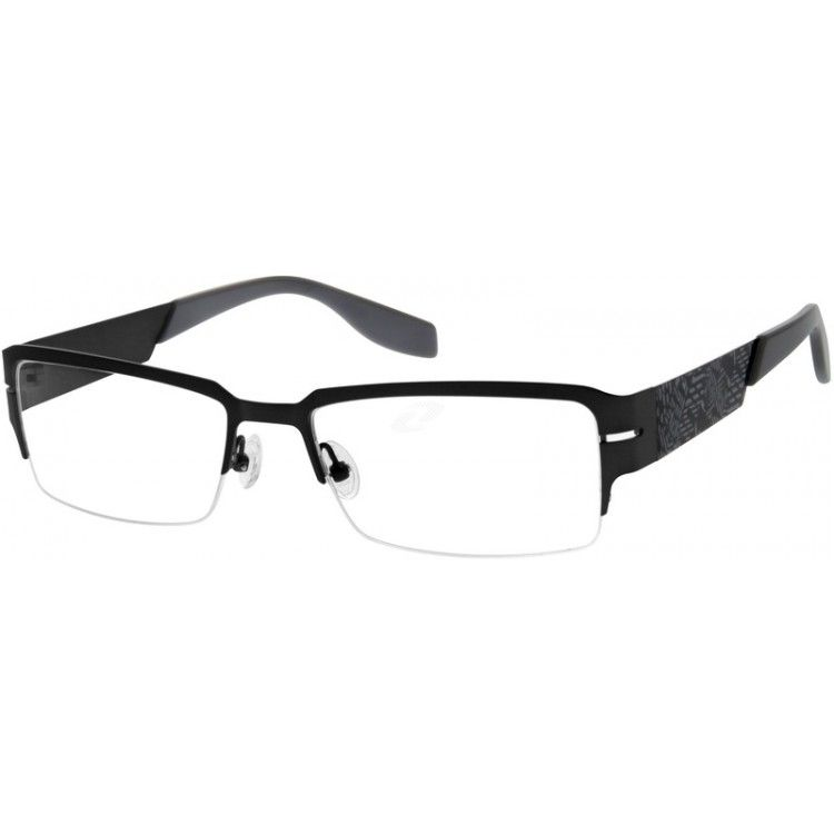 3816b42b5fa A strong stainless steel half-rim frame with comfortable acetate temple tips.  Adjustable nose pads ensure comfort fit. A stylish frame which brings ...