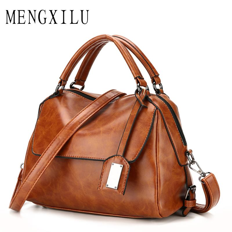09d285f2a8 Item Type  Handbags - Style  Fashion - Brand Name  MENGXILU - Gender  Women  - Lining Material  Polyester - Exterior  Silt Pocket - Closure Type  Zipper  ...