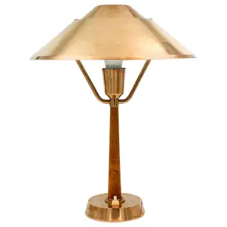 1940s Swedish Brass And Teak Table Lamp In 2020 Table Lamps For Sale Lamp Decorative Table Lamps