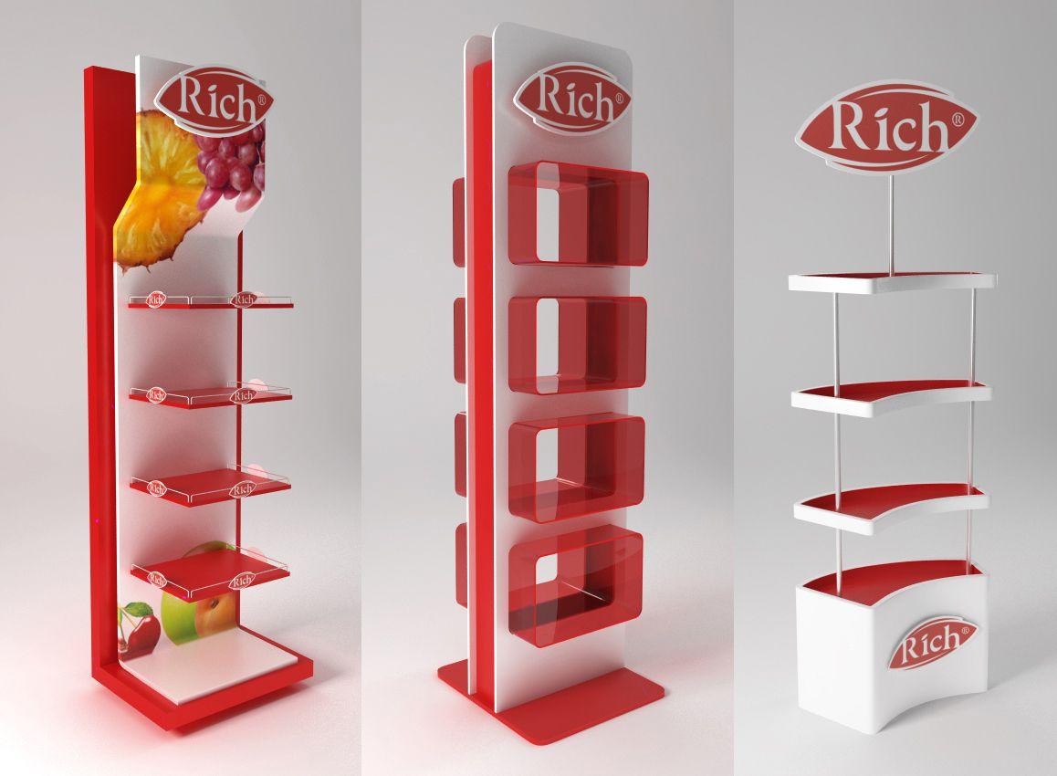 Product Stand On Behance Display Shelf Design Pop Display Display Design