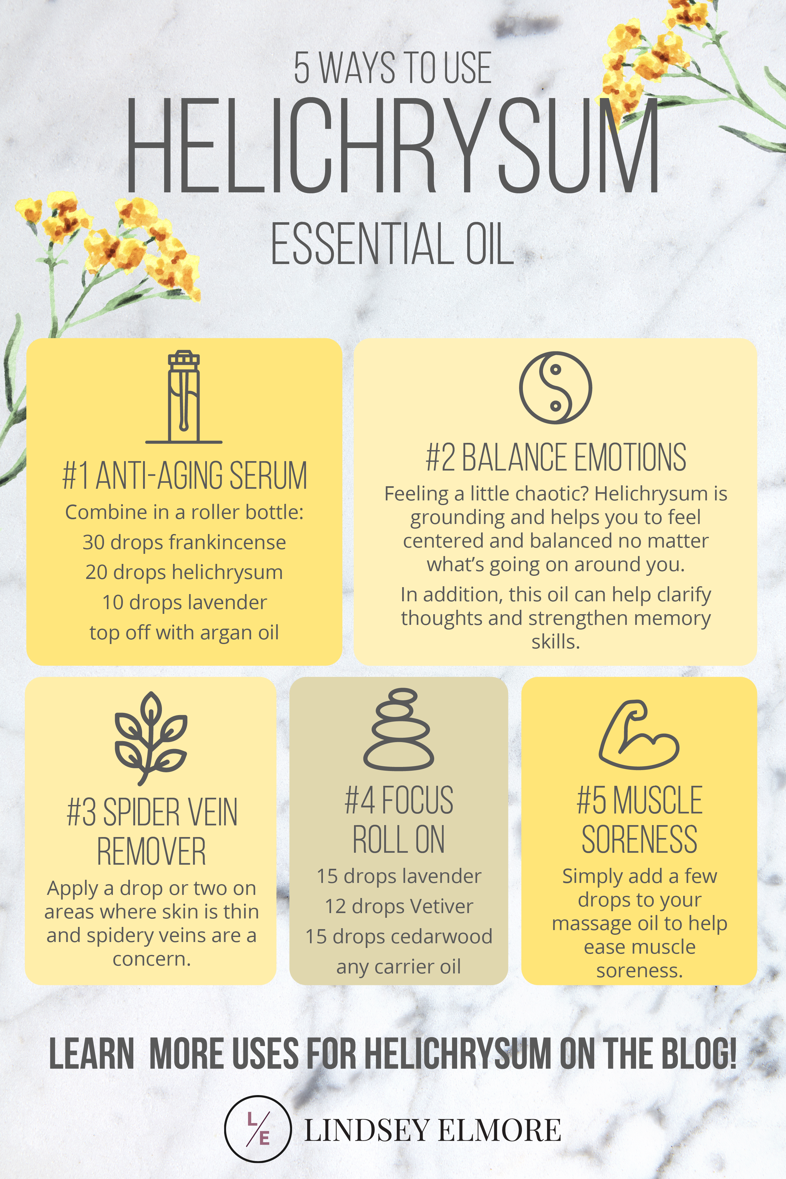 5 Ways to Use Helichrysum Essential Oil From skin preparations to emotional uses this perennial herb offers many benefits Here are even more ways to use helichrysum essen...