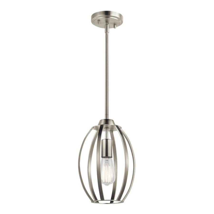 Tao Brushed Nickel Modern Contemporary Cage Pendant Light Kichler Tao Brushed Nickel Modern Conte In 2020 Cage Pendant Light Cage Pendant Brushed Nickel Pendant Lights