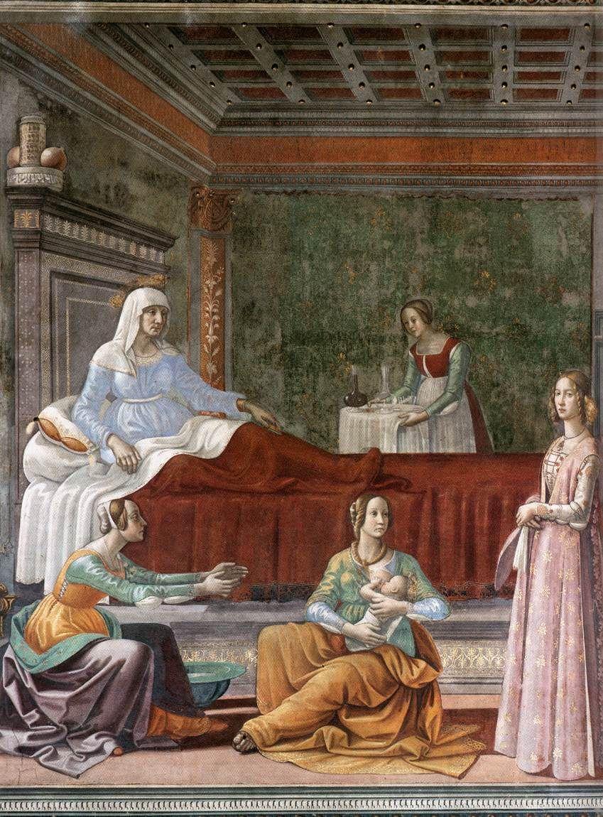 GHIRLANDAIO, Domenico; EL NACIMIENTO DE SAN JUAN EL BAUTISTA 1486-90 ...