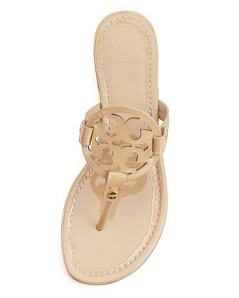 da1e20149fc69 Tory Burch Miller Patent Logo Thong Sandal