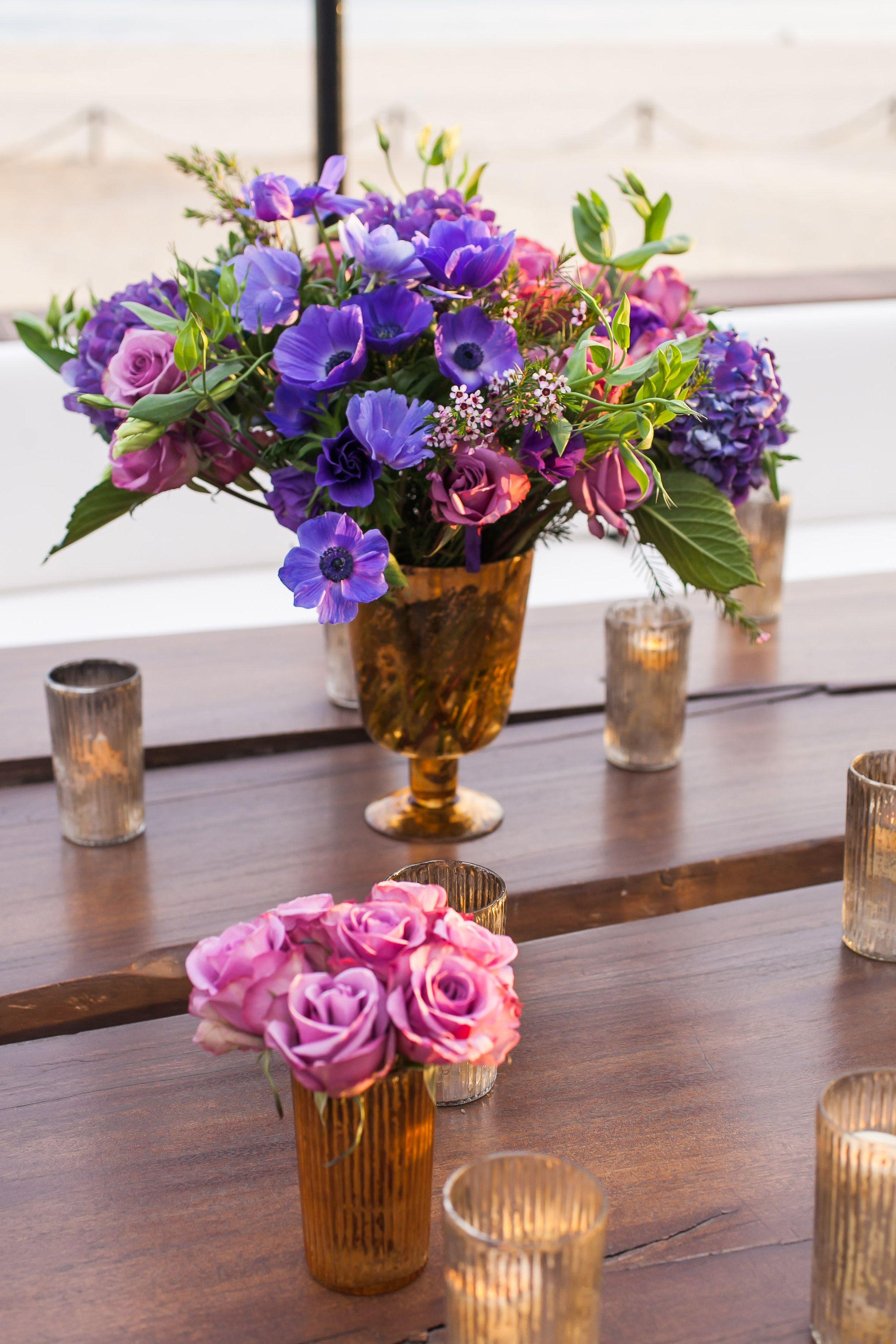 #purple floral wedding centerpiece @weddingchicks