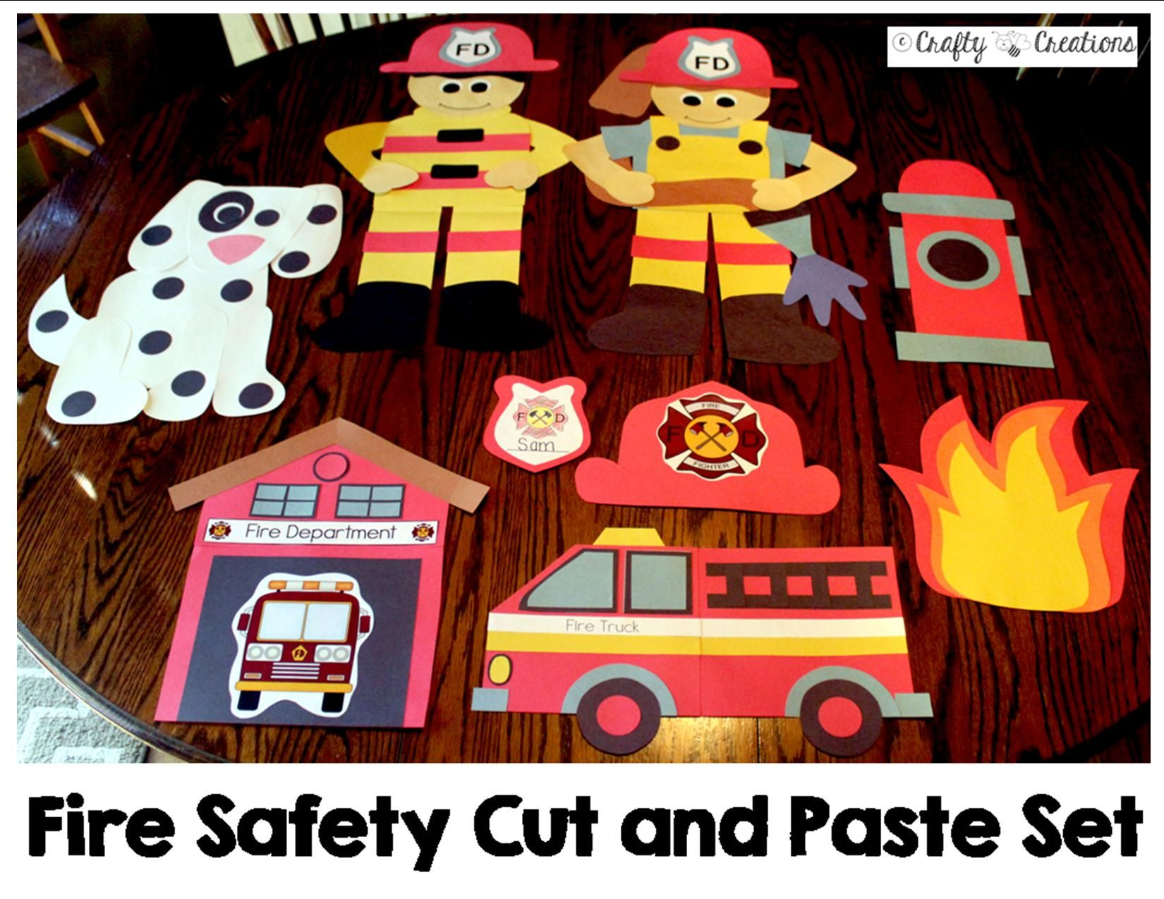 Fire Safety Crafts Bundle