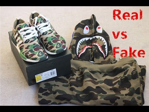 Real vs Fake? Newest update Best Quality UA Adidas Bape NMD Camo Green