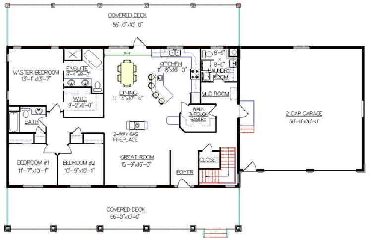 Bungalow with Walkout Basement Plan 2011545 really like the garage