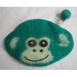 Войлок обезьяна дизайн кошелек