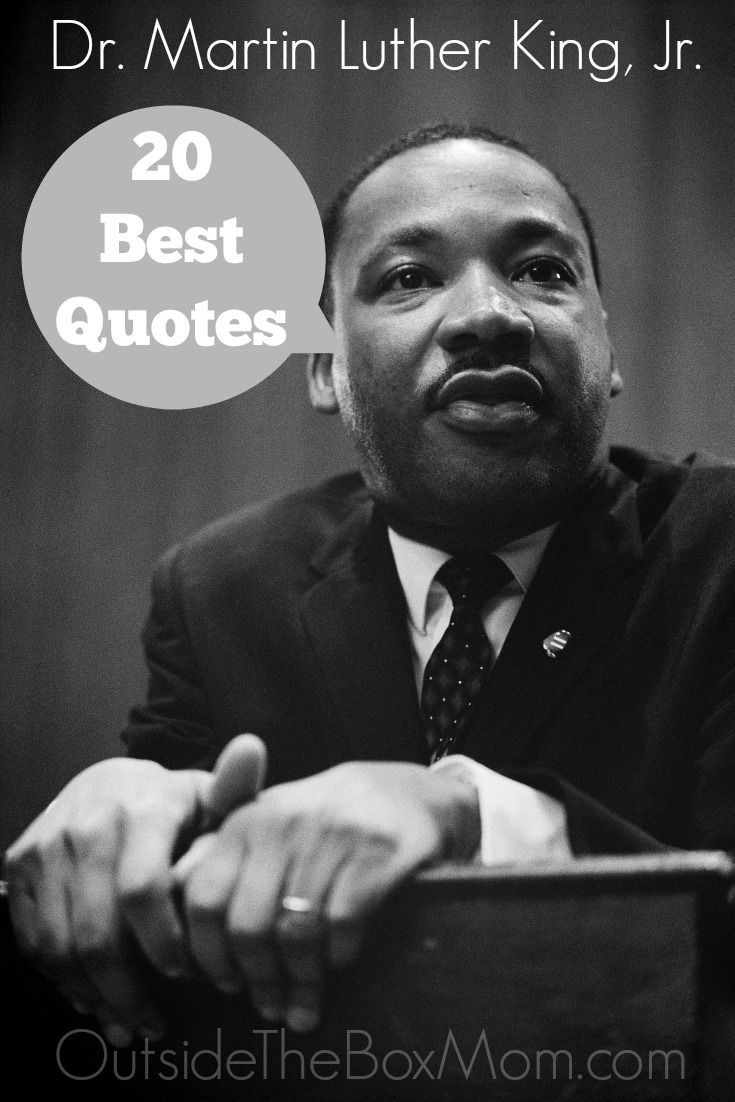 20 Best Dr Martin Luther King Jr Quotes Martin Luther